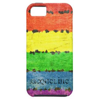 Rainbow Crayon Stripes - GLBT Pride Personalized! iPhone SE/5/5s Case