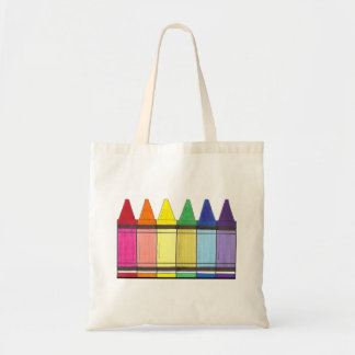 Rainbow Crayons Art Artist Supply Tote Bag