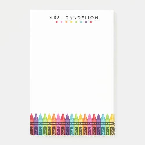 Rainbow Crayons  Kindergarten Teacher Post_it Notes