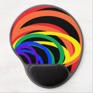 Rainbow Crescent Abstract Bold Colors Gel Mousepad