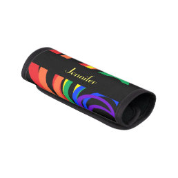 Rainbow Crescent Abstract Luggage Handle Wrap