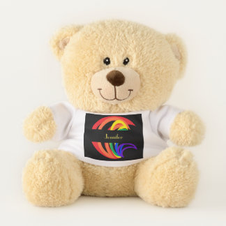 Rainbow Crescent Abstract Teddy Bear