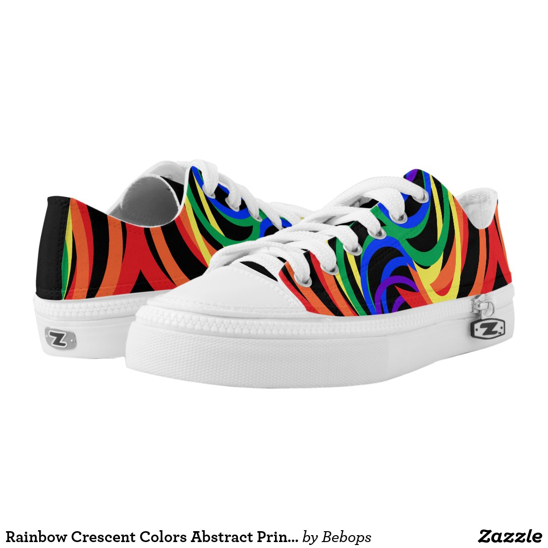 Rainbow Crescent Colors Abstract Printed Shoes