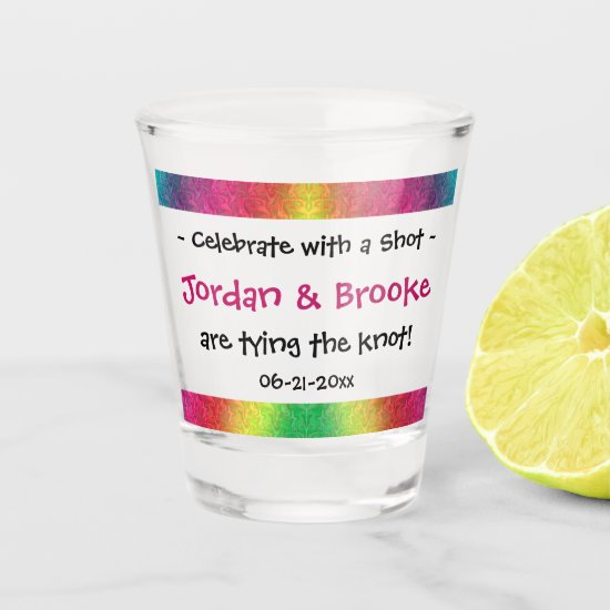 [Rainbow Crinkle Wedding] Celebrate With a Shot Glass