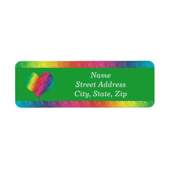 [Rainbow Crinkle Wedding] Colorful Heart Green Label