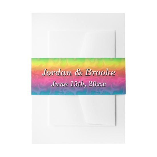 [Rainbow Crinkle Wedding] Colorful Invitation Belly Band