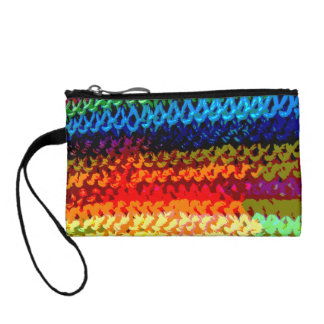 Rainbow Crochet Texture Coin Purse