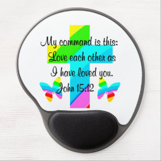 RAINBOW CROSS AND BUTTERFLY JOHN  15:12 GEL MOUSE PAD