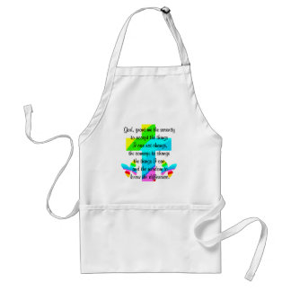 RAINBOW CROSS AND BUTTERFLY SERENITY PRAYER DESIGN ADULT APRON