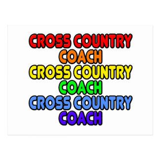 Rainbow Cross Country Coach Postcard