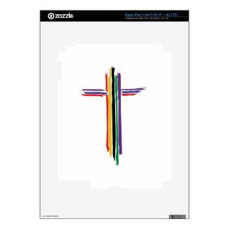Rainbow Cross Decal For iPad 3