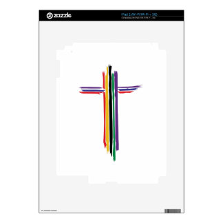 Rainbow Cross Decals For The iPad 2