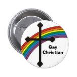rainbow_cross, GayChristian Pinback Buttons