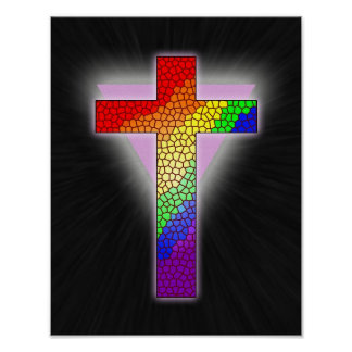 Rainbow Cross Print