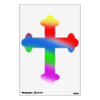 Rainbow Cross Wall Sticker
