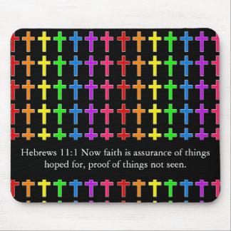 Rainbow Crosses Mouse Pad