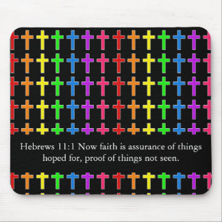 Rainbow Crosses Mouse Pad