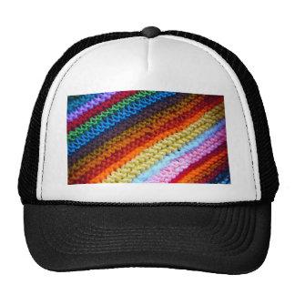 Rainbow Crotchet Blanket Mesh Hats