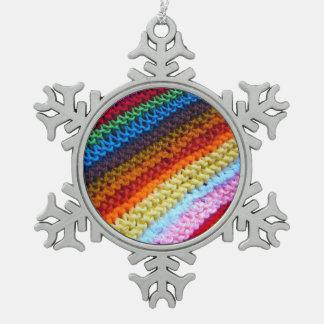 Rainbow Crotchet Blanket Ornament