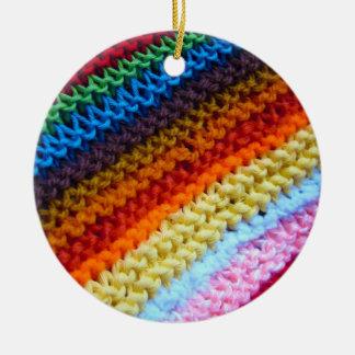 Rainbow Crotchet Blanket Ornaments