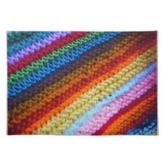 Rainbow Crotchet Blanket Place Mat