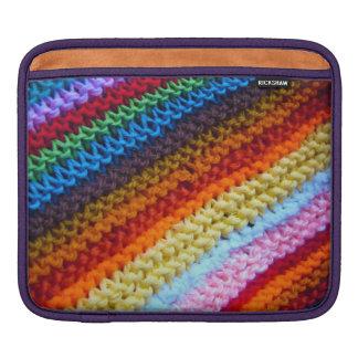 Rainbow Crotchet Blanket Sleeves For iPads