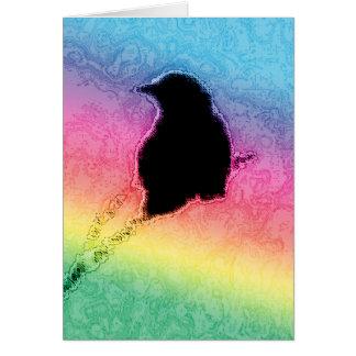 Rainbow Crow Card