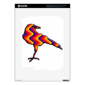 Rainbow Crow iPad 3 Decals