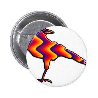 Rainbow Crow Pinback Button