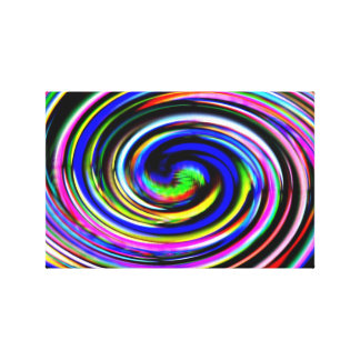 Rainbow Cscade Canvas Print