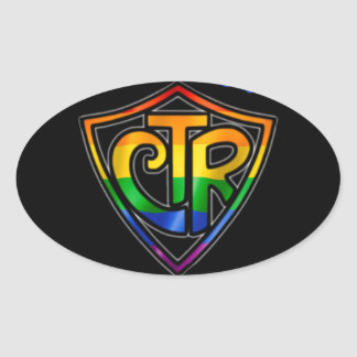 Rainbow CTR - LDS LGBT Ally Oval Sticker