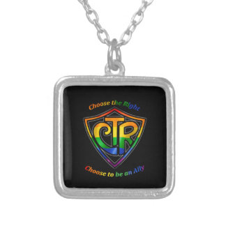 Rainbow CTR - LDS LGBT Ally Silver Plated Necklace