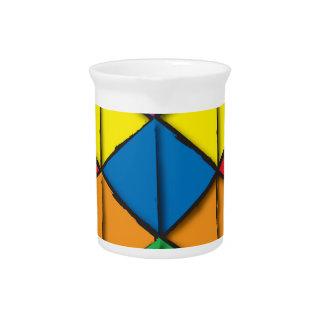 Rainbow Cube Pitchers
