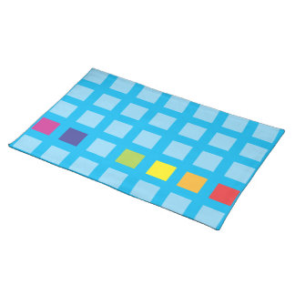 Rainbow cubes American MoJo Placemat