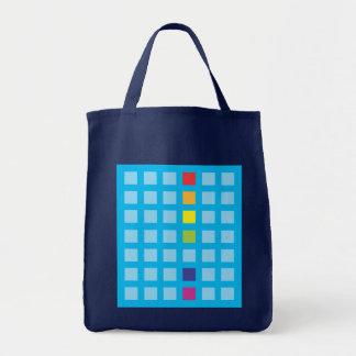 Rainbow Cubes Cyan Pattern Bag