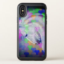Rainbow Cubism Andalusian Lusitan Horse Art Speck iPhone X Case