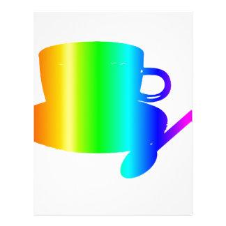 Rainbow Cup, Saucer, Spoon Letterhead