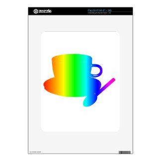 Rainbow Cup, Saucer, Spoon Skin For iPad