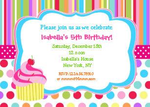Cupcake birthday invitations zazzle rainbow cupcake birthday party invitations filmwisefo