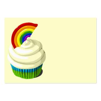 Rainbow cupcake business card template