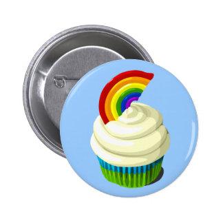 Rainbow cupcake button