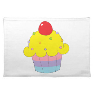Rainbow Cupcake Cloth Placemat
