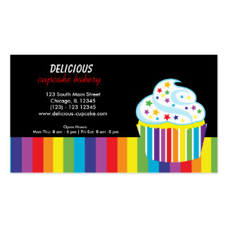 Rainbow Cupcake Double-Sided Standard Business Cards (Pack Of 100)