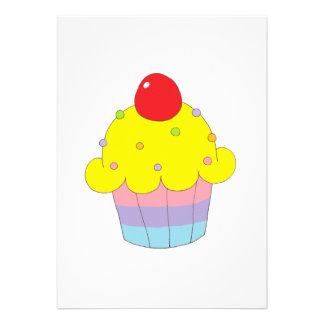 Rainbow Cupcake Custom Invites