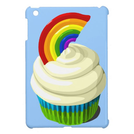 Rainbow cupcake ipad mini cover for the iPad mini