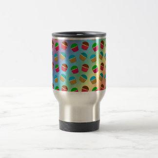 Rainbow cupcake pattern coffee mug