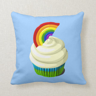 Rainbow cupcake pillow