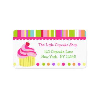 Rainbow Cupcake Return Address Labels