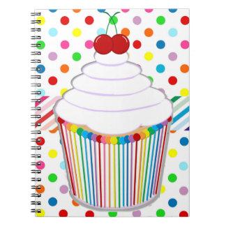 Rainbow Cupcake Spiral Notebook