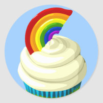 artsprojekt, rainbow, cupcake, desserts, sweets, frozen dessert, Orange (colour), zabaglione, Violet (color), henry sweet, sabayon, red, sillabub, yellow, syllabub, green, peach melba, blue, spikelet, indigo, fruit compote, cyan, pricker, Rainbow flag (LGBT movement), glochid, Peace rainbow flag, afters, International Co-operative Alliance, glochidium, gay pride, aculeus, Italy, compote, Inca empire, blancmange, Wiphala, baked alaska, tiramisu, pavlova, prickle, Sticker with custom graphic design